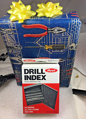 60 PCS H.S.S. Number # Drill BIt Set, 1 to 60 . Huot Case. 135 Deg Point.