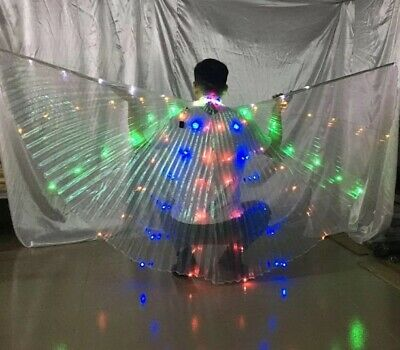 LEDs Isis Wings Rechargeable Belly Dance Club Light Up Show Dancer Isis Wings