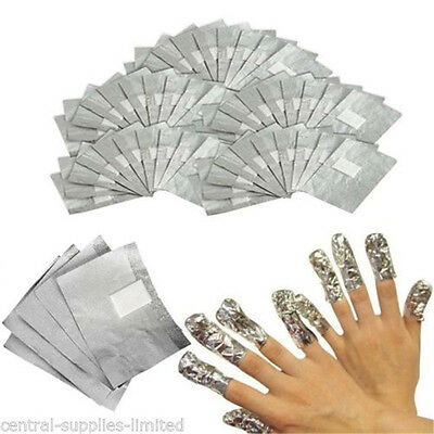 10/20/50/100pcs Nail Art Soak Off Remover Polish Acrylic Removal Foil Wraps