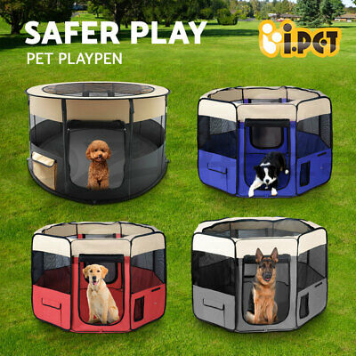 i.Pet Pet Playpen Play Pen Dog Soft Crate Cat Cage Tent Travel Puppy Portable XL