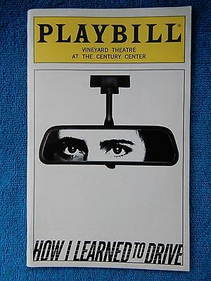How I Learned To Drive - Vineyard Theatre Playbill - January 1998 - Ringwald