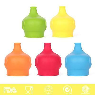 5 Color Silicone Kids Baby Sippy Lids - Make Most Cups a Sippy Cup Leak Proof YZ