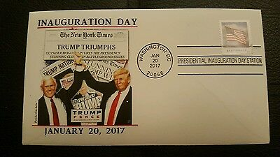 2017 Donald Trump Inauguration Day Cachet Cover - New!!!  1/20/2017