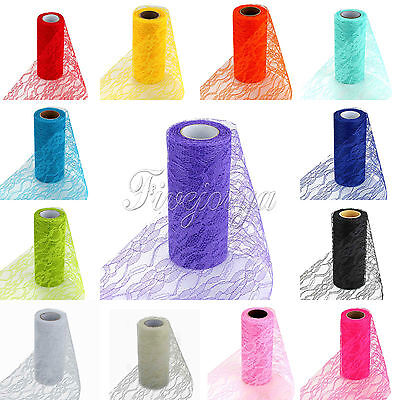"1/2/5/10 Rolls  Vintage Style Lace Roll Wedding Party Chair Sash Venue 6""x 10Y"