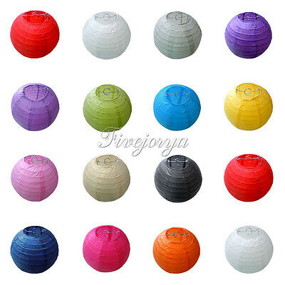 "Multicolor Round Chinese paper Lanterns Wedding Party Xmas Decor 8"" 10"" 12"" 14"""