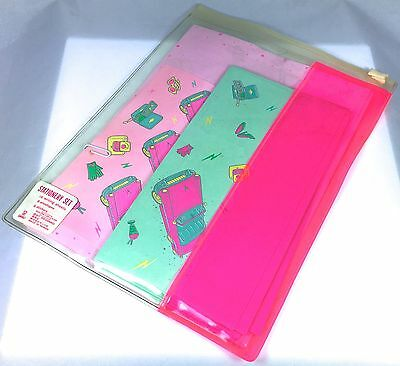 VTG SANRIO HELLO KITTY ❤︎ 50's PINK CAR STATIONERY LETTER SET ❤︎ RARE KAWAII 80s