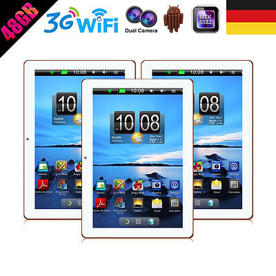 """10.1"""" Zoll Tablet Pc 48Gb 4G Lte Quad Core Ips Dual Sim Gps Navi Android 3G"""