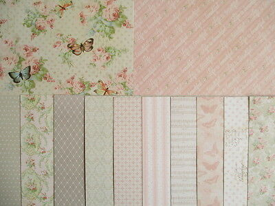 """Dovecraft Floral Muse 12 sheets 8x8""""  Scrapbook backing Papers"""