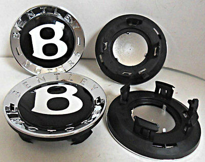 4 NEW Genuine Bentley wheel centre rings & caps, Continental GT etc