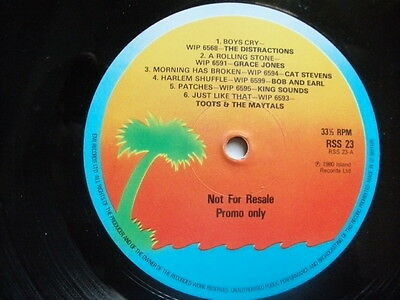 1 SIDED ISLAND PROMO ONLY LP:1980s SINGLES BY TOOTS & MAYTALS/KING SOUNDS ETC.