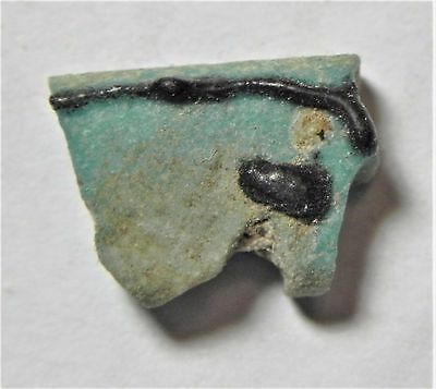 Zurqieh -Af1486- Ancient Egypt , Faience Eye Of Horus Amulet. 600 - 300 B.c