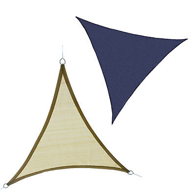 Outsunny 16.4' Triangle Canopy Sun Sail Shade Patio Lawn Shelter UV Protector