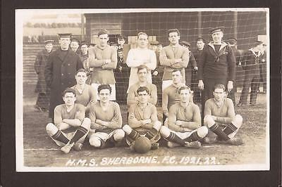 """Royal Navy. Football. H.M.S.""""Sherborne""""(Minesweeper)F.C. 1921-22. RP."""