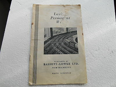 Vintage Bassett-Lowke Track Laying Instruction Booklet M15