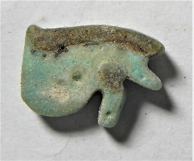Zurqieh -Af1512- Ancient Egypt , Faience Eye Of Horus Amulet. 600 - 300 B.c