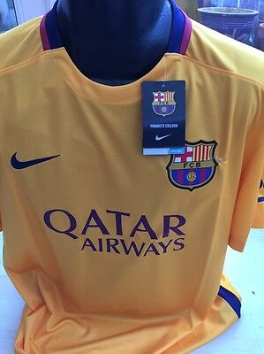 Barcelona Away Football Shirt Size Large Nike Dri-Fit Barca Spain Brand New