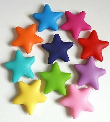 Silicone teething 10 star beads make your own necklace or dummy clips teether