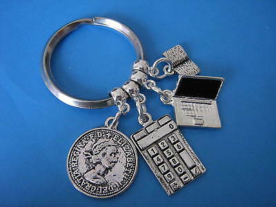 Accountant Keyring Accounts Assistant Bookkeeper Accounting Accounts Keychain