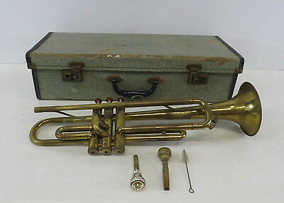Vintage Cadet Distributed By Selmer London Brass Trumpet Comes With Case