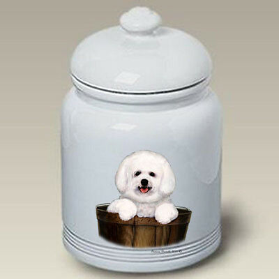 Ceramic Treat Cookie Jar - Bichon Frise Pup (TB) 34250