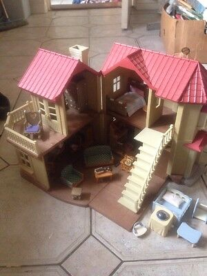 Sylvanians Beechwood Hall House With Furniture