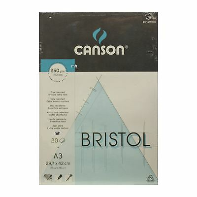 Canson A3 Bristol Extra Smooth Surface Pad 250gsm