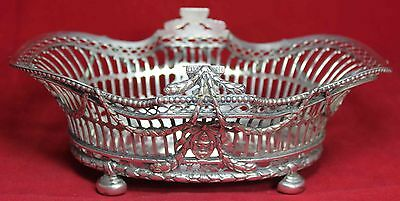 1910 William Comyns Sterling Silver Large Pierced Basket - Ornate - London
