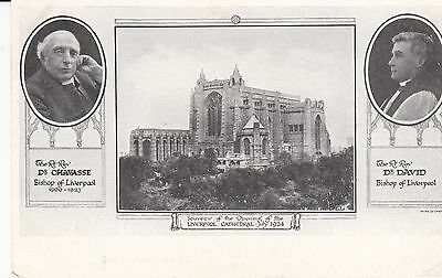 Old  P/c  Souvenir Of The Opening Of Liverpool Cathedral, July, 1924, Lancashire