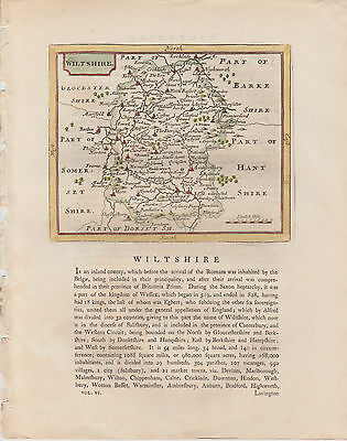 1785 Antique Map - WILTSHIRE - County Home of Stonehenge - John Seller/ F. Grose