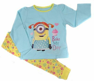 Toddler Girls Minions  Despicable Me Pyjamas Cupcake Bake My Day Theme 18-24M
