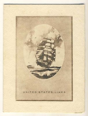 SS American Banker, United States Lines, Signed Menu 1938