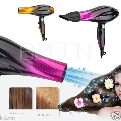 Professional Super Turbo Hair Dryer 2800W 2 Heat Speed Blower Salon Household