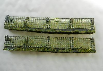 Wire Fencing With Foliage ~ Scenery For Model Rail Oo / Ho Scale, Brand New