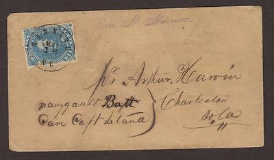 Confederate: Manning, SC CSA #2 Cover to A. Harbon c/o Capt Leland in Charleston