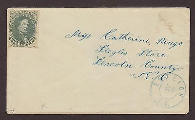 Confederate: Raleigh, North Carolina CSA #1 Mourning Cover to Siegle's Store, NC