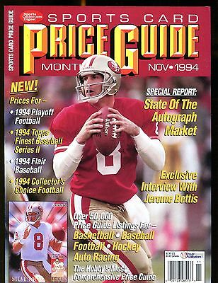 SCD Sports Card Price Guide November 1994 Steve Young jhscd