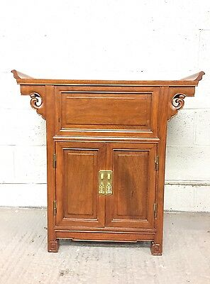 Asian Chinese Hardwood Cabinet / Cupboard - Oriental Cabinet