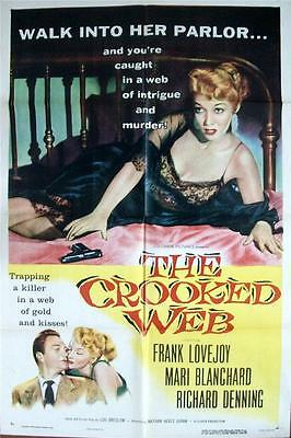 Mari Blanchard Welcomes You To Her Crooked Web Orig Film Noir Us One Sheet