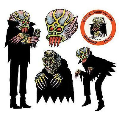 The Ghoul Sticker Set Of 5 From Artist Justin Ishmael X Craig Gleason