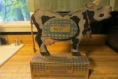 Schreibers Dairy advertising Wisconsin cheese old store counter display sign