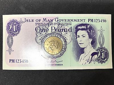 1978 £1 Coin - Isle of Man World's First One Pound Virenium Coin On Card