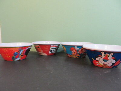 Set of 4 Kellogg's 100th Anniversary Tony The Tiger Frosted Flake Cereal Bowls