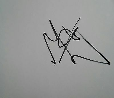 Sir Mo Farah Autograph British Double Olympic Gold Hand Signed Card Team Gb