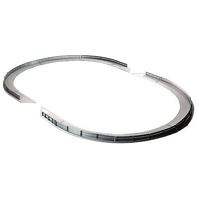 SCALEXTRIC Grey Borders and Barriers Set - 4 large curves 4 half-straights