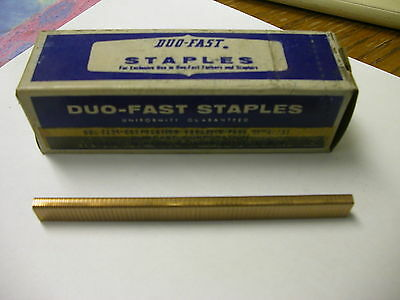 "Duo-Fast Staples 3412-C 3/8"" Long 3/16"" Crown Box Of 5000"