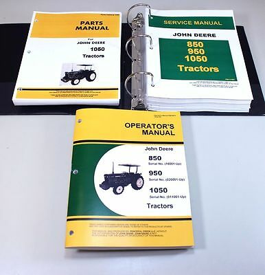 John deere 1550 backhoe operators manual 850 950 1050 tractor | ebay.