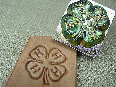 Vintage Leather Stamping Tool - #8450 4-H Clover Logo Stamp