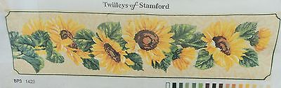 Twilleys of Stamford - SUNFLOWERS - Needlepoint Canvas, OOP, Vintage