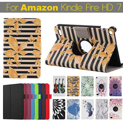 Folding Magnetic Close Leather Stand Case For Amazon Kindle Fire HD 7 Tablet HOT