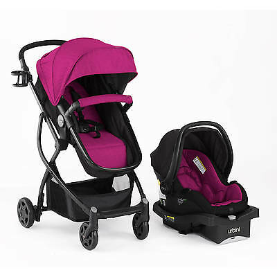 Urbini Omni Plus Viola Ultimate All-in-1 Travel System Car Seat Infant Stroller